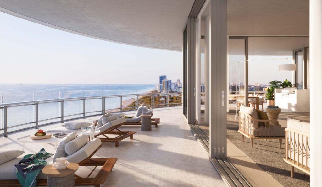 Terrasse Appartement Miami